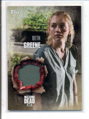 Beth Greene 2016 The Walking Dead Authentic Worn Shirt Relic Card Fd3480