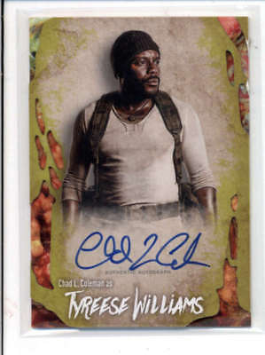 Tyreese Williams 2016 The Walking Dead Survival Autograph Auto #95/99 Fd3482