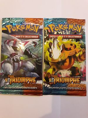2 boosters pokemon HS TRIOMPHE FR