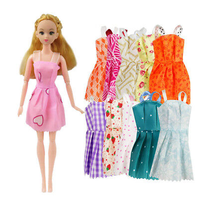 Mix10X Beautiful Party Handmade Mini Fashion Dress Doll Clothes Shoes Gifts New