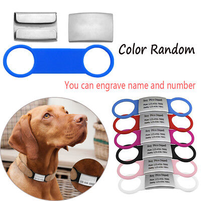 Dog Cat ID Tag Stainless Steel Pet Nameplate Tags Customized Tensile Rubber