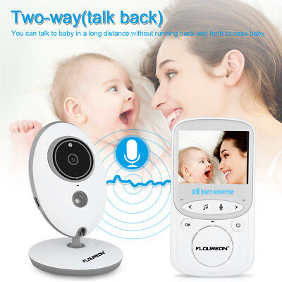 Floureon Secure 2.4'' Digital Wireless Lcd Video 2.4Ghz Baby Monitor 2 Way Talk