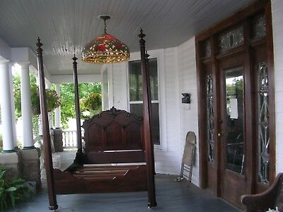 antique solid rosewood prudent mallard 4 poster canopy bed finials the best