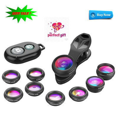 Apexel Phone Camera Lens 3/6 Lens 10 in 1 Lens Kit Suitable For Most Smartphones