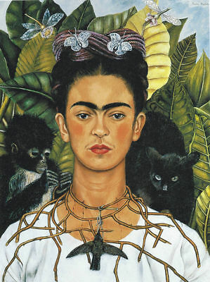 FRIDA KAHLO - Collar of Spines - Canvas Print Poster 8X12""