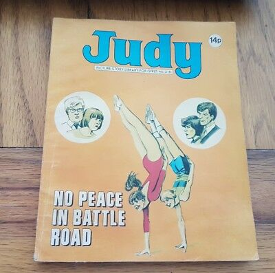 JUDY PICTURE STORY LIBRARY FOR GIRLS No.218 NO PEACE  IN BATTLE ROAD