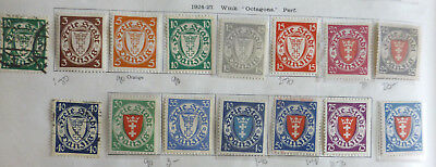 Danzig 1924 Definitives Vals to 80Pf Mint LH & U cat £100+ see description