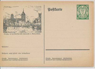 LI49802 Germany Danzig stationery postal card unused