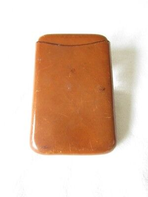 AONIAN VINTAGE/RETRO ENGLISH TAN LEATHER CIGAR CASE 1930S/40s
