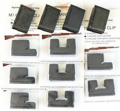 M1 Garand Clips 12-Pack Combo - 4x 8rd, 4x 5rd & 4x 2rd Clip New mix Round New