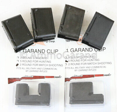 M1 Garand Clips 6-Pack Combo - 4ea 8rd 1ea 5rd, & 1ea 2rd Round US Clip mix New