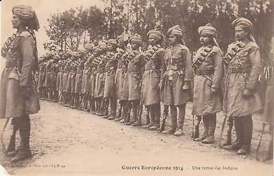 CPA GUERRE 14-18 WW1 ENGLISH BRITISH ANGLAIS indian soldiers india abîmée bas