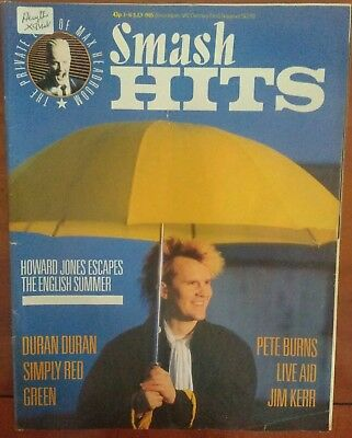 Smash Hits 3-16 July 1985 Howard Jones cover - Live Aid/Pete Burns/Simply Red
