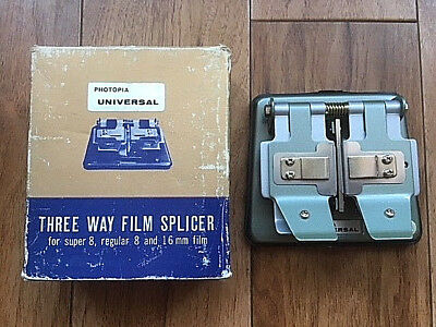 Vintage Photopia Universal Cine 8mm, Super 8 & 16mm Movie Film Splicer Boxed