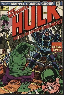 Incredible Hulk #175 Beautiful 9.2 Investment Grade Original Owner Copy  1974