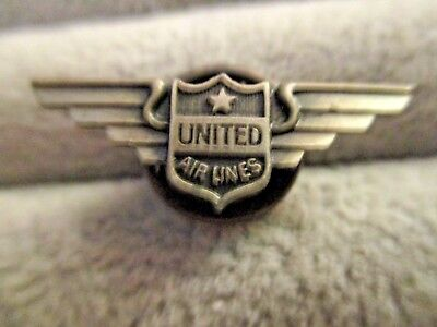 Vintage Screw Back  United Airlines  Lapel Pin wings