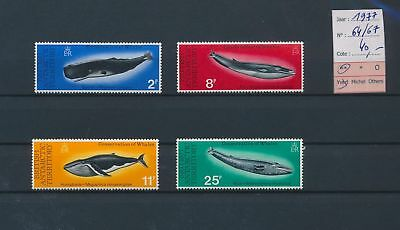 LI78044 British Antarctic Territory 1977 whales sealife lot MNH cv 40 EUR