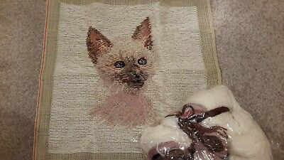 Tramme cat, Needlepoint -tapestry