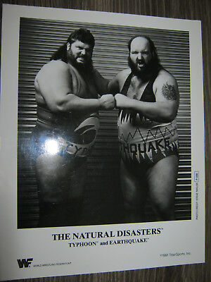P056 Earthquake Typhoon 91 Natural Disasters WWE Original Promo Photo 8x10 WWF