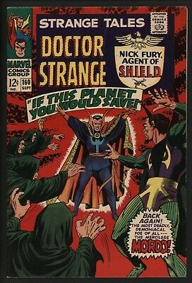 Strange Tales #160 Nick Fury By Jim Steranko Dr Strange Vs Mordo! Whte Pages