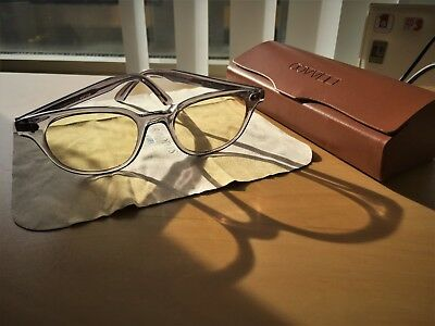 1990s Oliver Peoples Sunglasses with yellow washed lenses Crystal frame