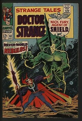 Strange Tales #162 Nick Fury By Jim Steranko Dr Strange Vs Nebulos!  White Pages