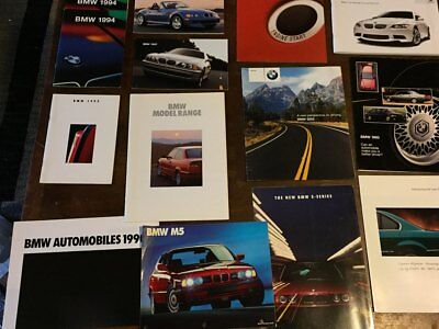 Lot of BMW sales brochures 1990-2006 M5 Z4M M6 Z8 3 Series