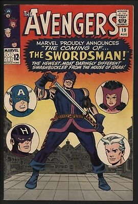 AVENGERS #19 1st APPEARANCE OF THE SWORDSMAN GLOSSY CENTS COPY NICE PAGES