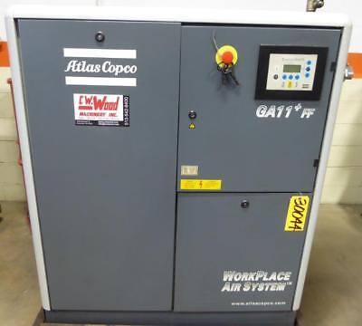 Atlas Copco Rotary Air Compressor 64 Cfm 100 Psi Atlas Copco Ga11+Ff (30044)