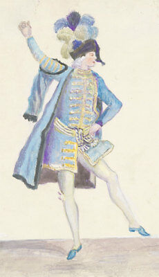 Late 19th Century Watercolour - French Costume Design