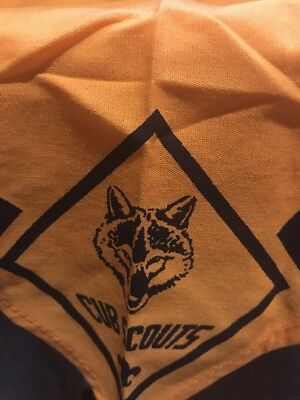 Boy Scouts Yellow & Blue (Wolf) Cub Scout Scarf Neckerchief LN