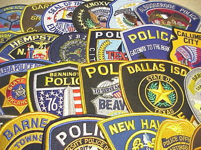Lot Of 25 Different Police Patches  New/mint Condition  Lot #8  Free Shipping!!