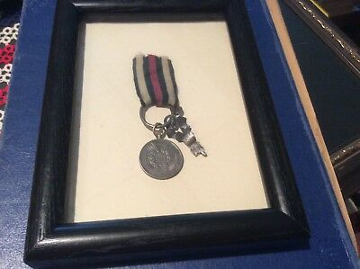 1870-71 Franco American War Service Medal Framed With Glass