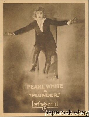 Original 1923 Pearl White In Plunder Patheserial Silent Movie Lobby Card