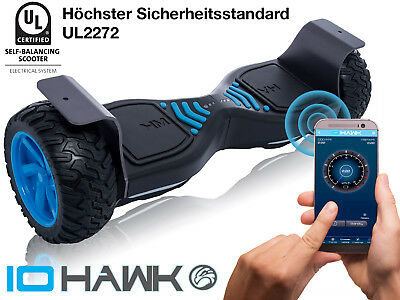 Original IO HAWK Cross - wetterfestes Offroad Hoverboard, Bluetooth, App, 15km/h