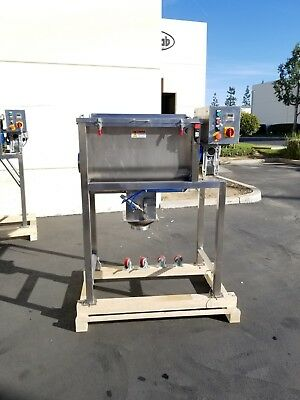 5 Cu Ft Ribbon blender Mixer. Stainless Steel Food Grade. 5cf