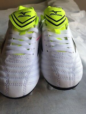 Mizuno Fortuna Rugby Sp Boots Size 7 White Lime Green