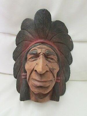 Wooden carved Head Mask 1940-50 Navajo Indian - one sold on Catawiki for £221.00