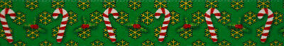 Country Brook Design® 1 Inch Candy Cane Christmas Polyester Webbing, 50 Yards