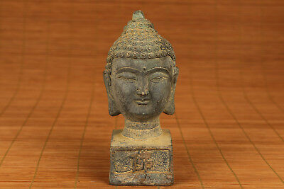 Big chinese old Bronze Hand Carved Buddha Statue Seals collectable