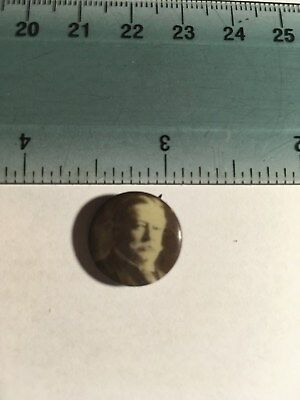 Small Celluloid Political pin button Taft President campaign, Huge Man Small pin
