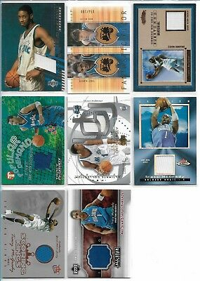 Tracy McGrady  8 Cards Game Used Lot Orlando Magic