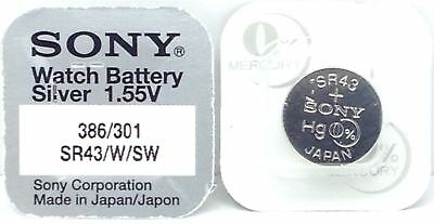 Sony 1.55v Silver Oxide Mercury Free Watch Battery Made in Japan - Various Sizes