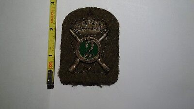 Extremely Rare WWII Italian 2nd Division Silver Bullion Green Patch.  RARE!!!