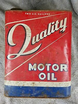 Rare QUALITY Motor Oil Can Two Gallon C & Z Lubricants Vintage
