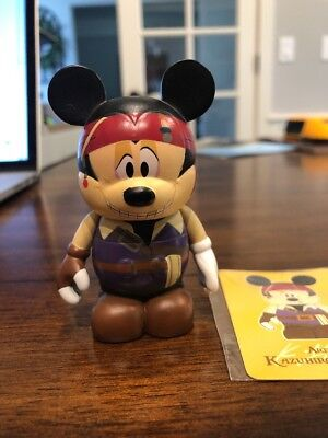 """Disney Trading Vinylmation 3"""" Japan Exclusive Pirate Mickey Mouse w Card"""