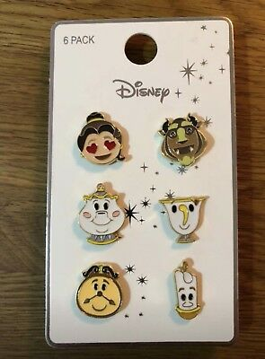 Disney Beauty And The Beast pin badges set of 6 Primark New