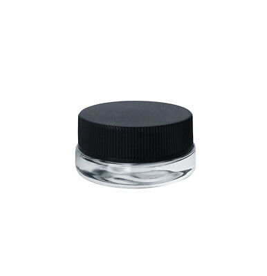 7 mL low profile glass jar with lid
