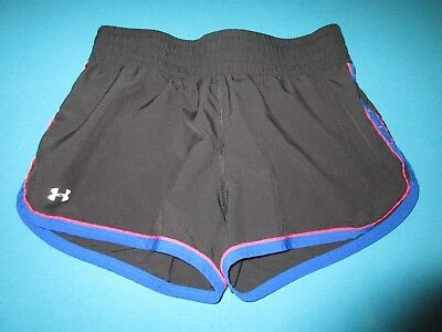 UNDER ARMOUR Womens Black Pink Blue Shorts Size Small S
