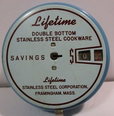 1940s Add-o-Bank Metal Bank - Lifetime Stainless Steel Cookware
